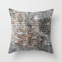 New Orleans Bricks Throw Pillow