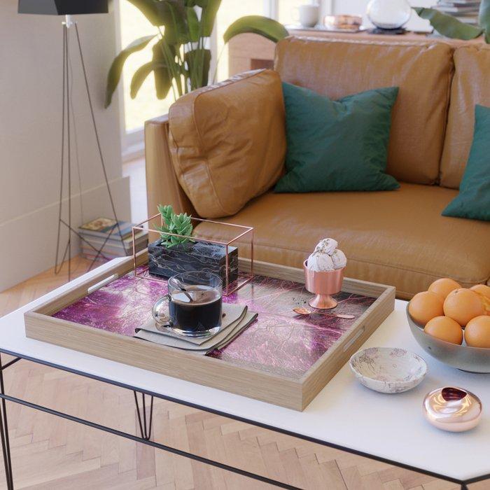 Pink Vein Serving Tray