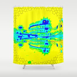 Colosseum Abstract Shower Curtain