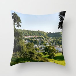 Lyme Regis Landscape Throw Pillow