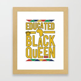 Educated black queen crown Framed Art Print