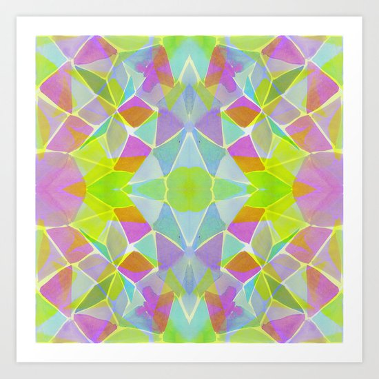 Chroma Lime Art Print