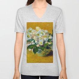 "Claude Monet ""Christmas Roses"" Unisex V-Neck"