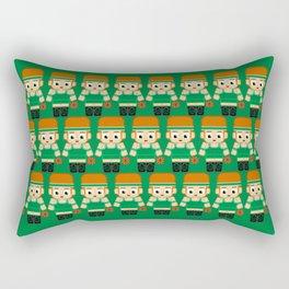 Basketball Green and White Rectangular Pillow