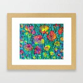 Hidden Flowers Framed Art Print