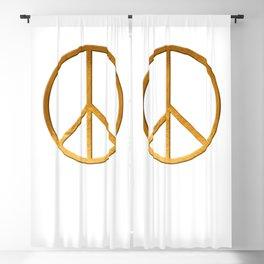 PEACE Symbol – 60th Birthday 21 Feb. 2018 Blackout Curtain