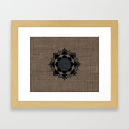 Lotus Mandala on Fabric Framed Art Print