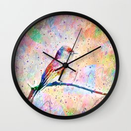 Flashy Phoebe - Black Phoebe Bird Wall Clock