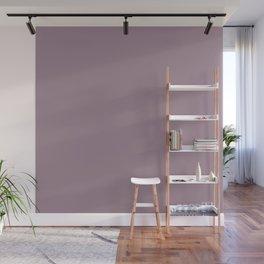 Solid Color Series - Desaturated Magenta Wall Mural
