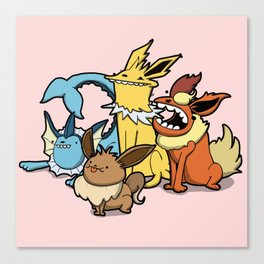 Pokémon - Number 133, 134, 135 and 136 Canvas Print