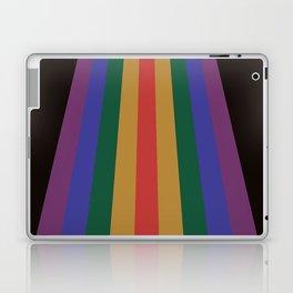 Retro Rainbow Dark 70's Stripes Laptop & iPad Skin