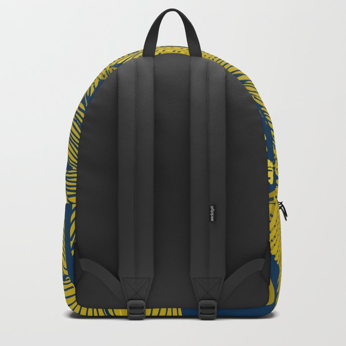 Carved Yellow&Blue Jungle #society6 #decor #buyart Backpack