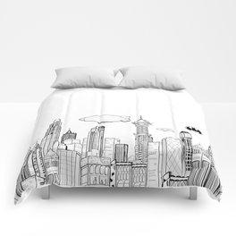 Gotham City Skyline Comforters
