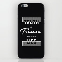 Truth is Treason in the Empire of Lies - Wikileaks iPhone Skin