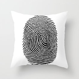 Fingerprint CSI crime scene Throw Pillow
