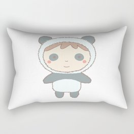 Cute Panda Kid Rectangular Pillow