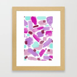 Abstract Paint Pink Purple Framed Art Print