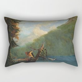 Old Man in the Mountain, White Mountains, New Hampshire landscape painting by Thomas Hill Rectangular Pillow