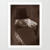 gentleman Art Prints featuring Gentleman by Alexander Wansuk Ohlsson