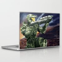 master chief Laptop & iPad Skins featuring Master Chief by PrintsofErebor