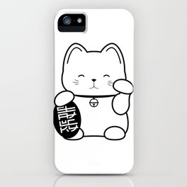 Stay Lucky WHT iPhone Case