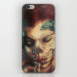 Skull Girl iPhone Skin