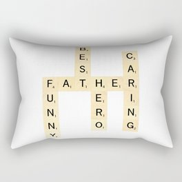 FATHER-FUNNY-BEST-HERO-CARING - Custom Scrabble Art and Accessories for Father's Day Rectangular Pillow