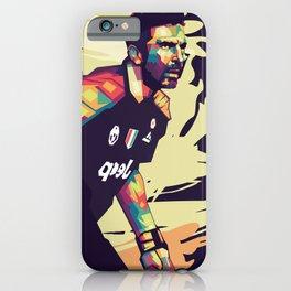 Gianluigi Buffon on WPAP Pop Art Portrait iPhone Case
