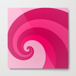 pink wave Metal Print