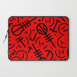 TØP Stickers - Red & Black Laptop Sleeve
