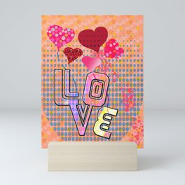 Valentine's Dots (Love) Mini Art Print