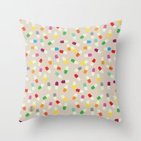 the cure Throw Pillows featuring Pill cure by  R U A L E G R E