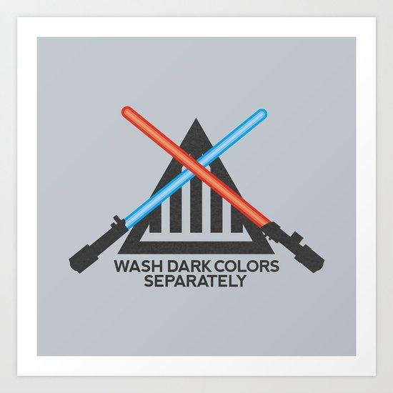 Jedi Care Instructions Art Print