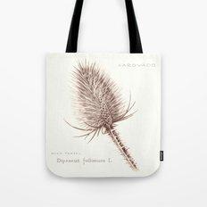 Wild Teasel botanical poster Tote Bag