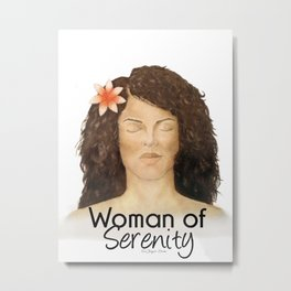 Woman of Serenity Metal Print