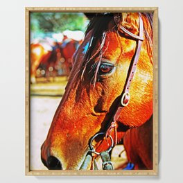 Horse-1-Color Serving Tray