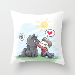 SmushyFace Throw Pillow