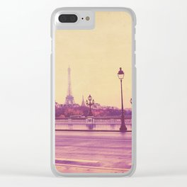 Paris, Glad to See You Again. Clear iPhone Case