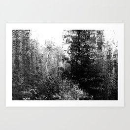 Monochrome city Art Print