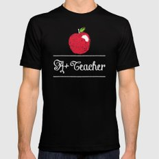 A+ Teacher Black Mens Fitted Tee MEDIUM
