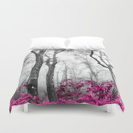 Princess Pink Forest Garden Duvet Cover