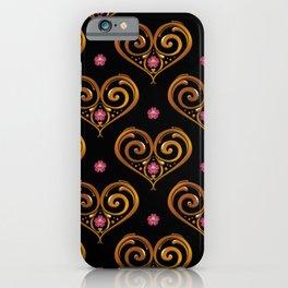 Argentine Tango Lover Golden Flower Heart Filete Tote Bag iPhone Case