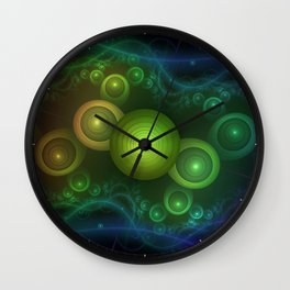 Retrotacular Rainbow Dots in a Fractal Microscope Wall Clock
