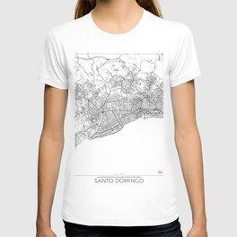 Santo Domingo Map White T-shirt