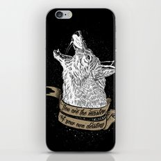 Wolf Protector (Black n Bronze collection) iPhone & iPod Skin