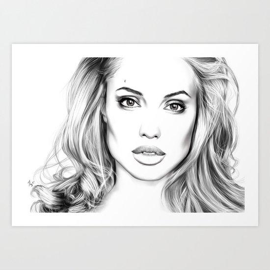 Angelina Jolie fanart Art Print