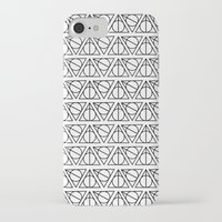 deathly hallows iPhone & iPod Cases featuring Deathly Hallows by bookotter