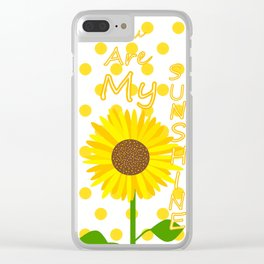Inspired Sunshine Quote Clear iPhone Case