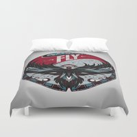 fly Duvet Covers featuring Fly by Andreas Preis