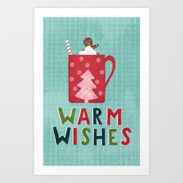 Warm Christmas Wishes Art Print